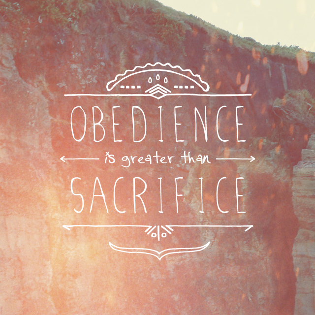 Obedience…