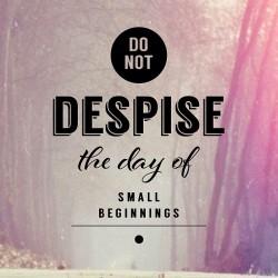 Small Beginnings - Daily Devotional and Meditation on Zech 4:10