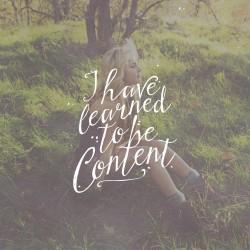 Contentment - Daily Devotional Phil 4:11
