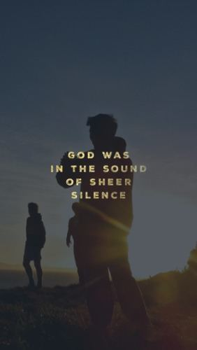 Elijah and the Sound of Sheer Silence - Pocket Fuel Devotional on 1 Kings 19:12