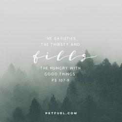 Satisfaction Attraction – Satisfaction Series – Part 2 - Pocket Fuel on Psalm 107:9