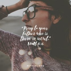 Pray In Secret – Sermon On The Mount Series – Part 7 - Pocket Fuel On Matthew 6:6