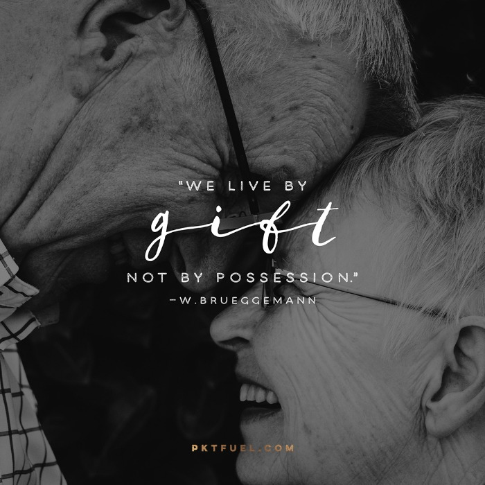 Live By Gift – The Rest Series with a quote by Walter Brueggemann