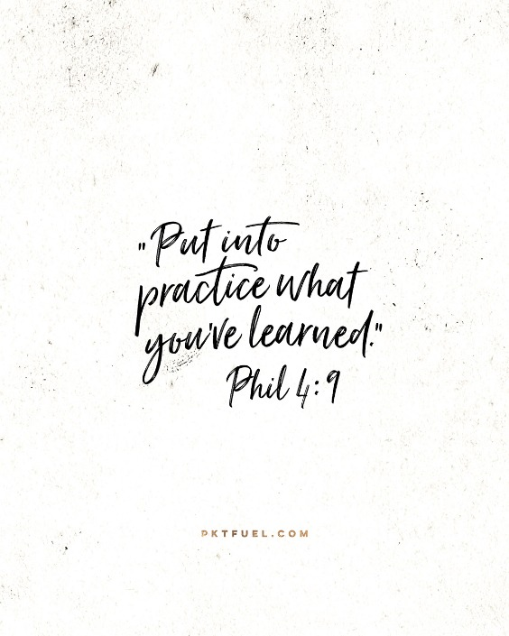 Patterns and Habits – The Practice Series – Part 6 - Pocket Fuel on Philippians 4:9