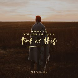 Born For Such A Time As This - Sunday Challenge - Pocket Fuel on Esther 4:14