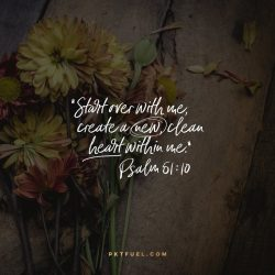 A New Clean Heart – The Creative Series – Part 1 on Psalm 51:10