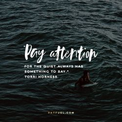 Quiet Always Has Something to Say - Notes On The Way Series - Torri Horness