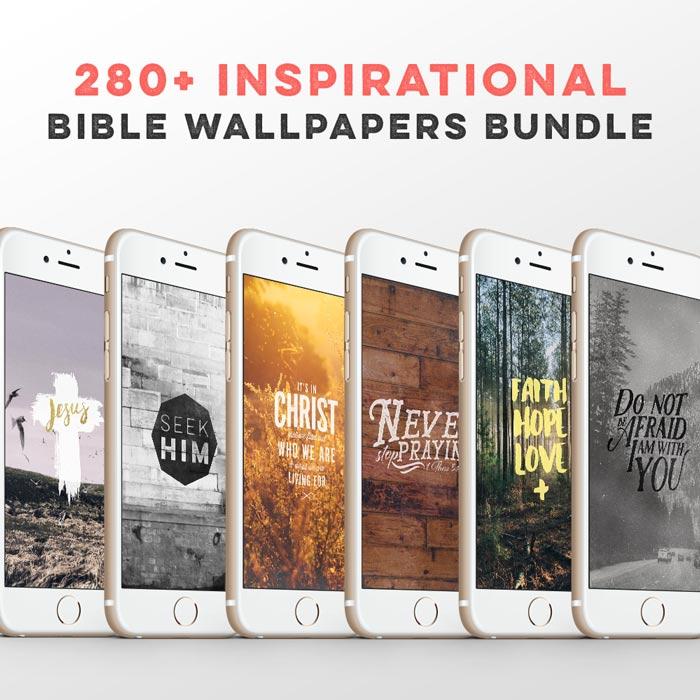 280+ Bible Wallpapers Bundle – $8.95