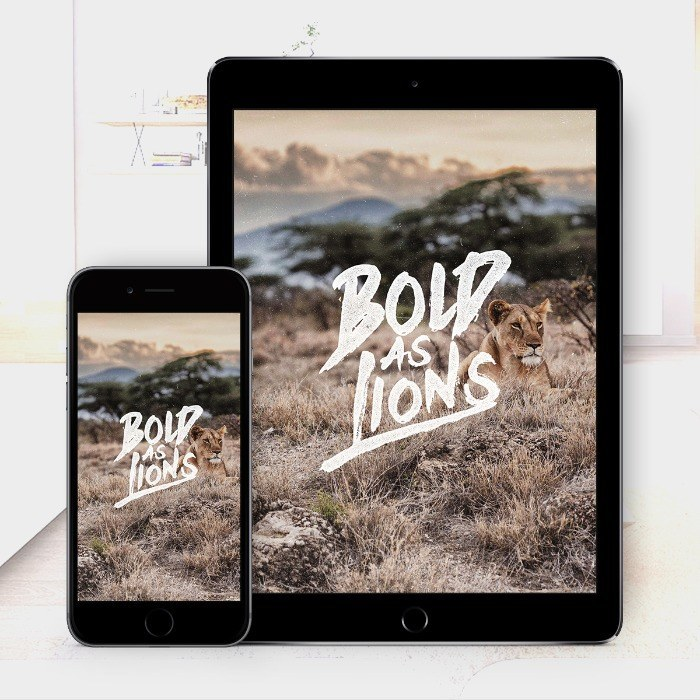 Bold As Lions – Bible Wallpaper Download – $1