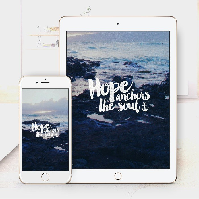 Hope Anchors – Bible Wallpaper Download – $1