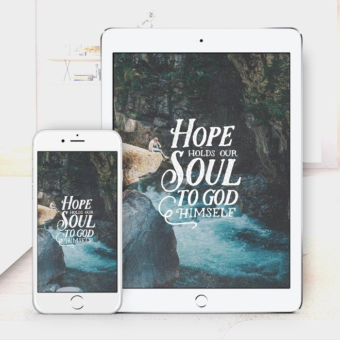 Hope Holds Us – Bible Wallpaper Download – $1