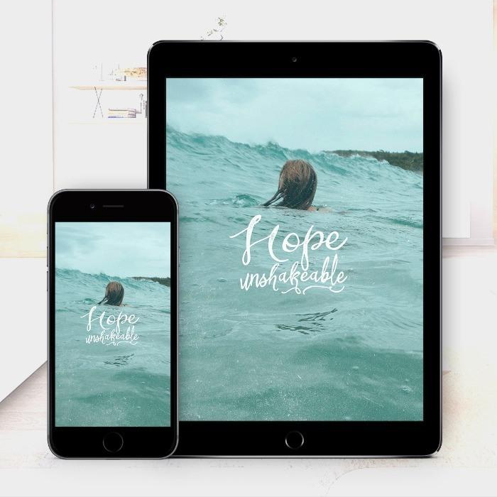 Hope Unshakeable – Bible Wallpaper Download – $1
