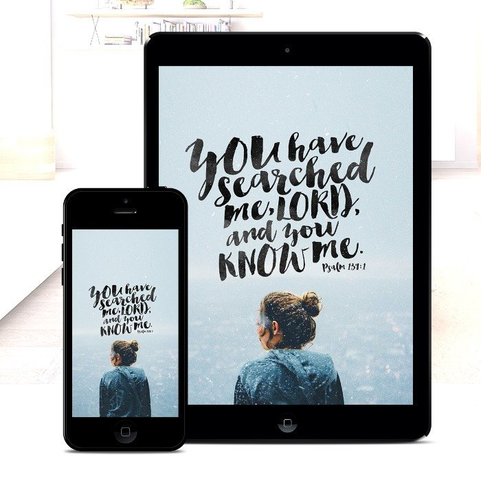 You Have Searched Me – Bible Wallpaper Download – $1