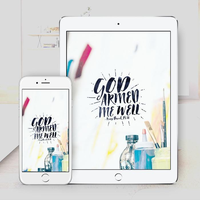 God Armed Me Well – Bible Wallpaper Download – $1