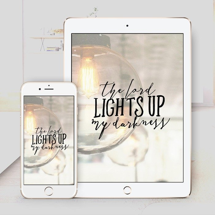 Lights Up My Darkness – Bible Wallpaper Download – $1