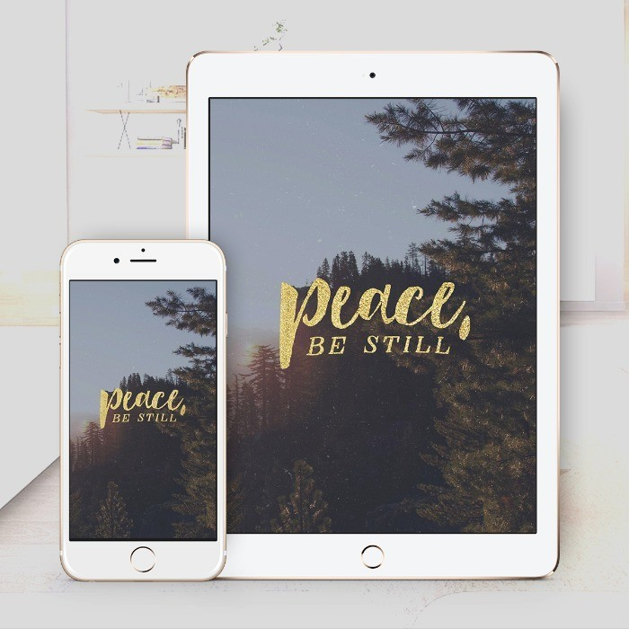 Peace Be Still Bible Wallpaper Download – $1